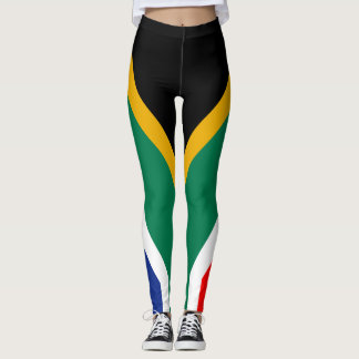 RSA: Black Green Yellow Red White and Blue Leggings