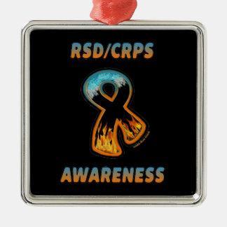 RSD/CRPS AWARENESS fire & ice ribbon Metal Ornament