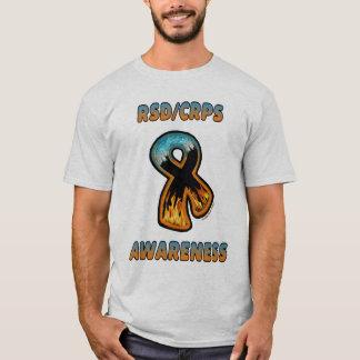 RSD/CRPS AWARENESS fire & ice ribbon T-Shirt
