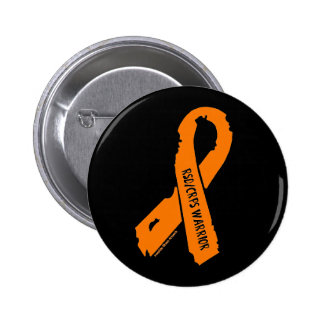 RSD/CRPS WARRIOR torn ribbon 2 Inch Round Button