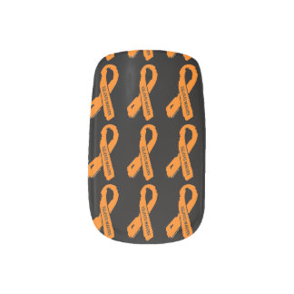RSD/CRPS WARRIOR torn ribbon Minx Nail Art