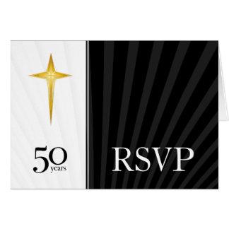 RSVP 50 Year Church Anniversary Note Card