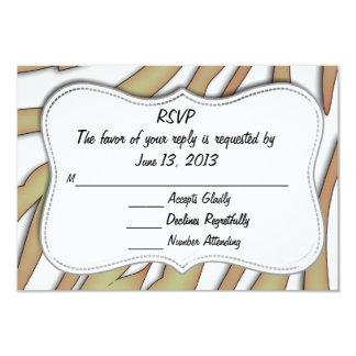 "RSVP Animal Print Card 3.5"" X 5"" Invitation Card"