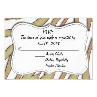 RSVP Animal Print Card