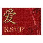 RSVP Asian Wedding invitation Announcement