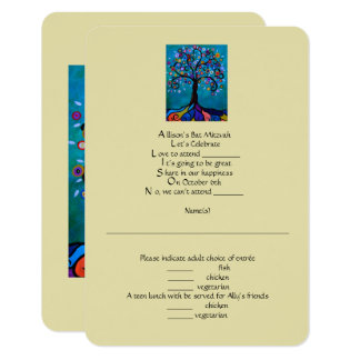 RSVP Bat Mitzvah Card