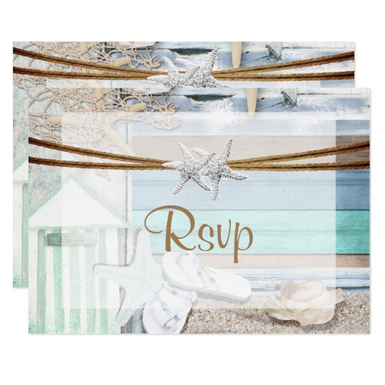 RSVP Beachfront Wedding Card