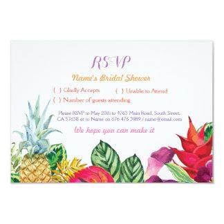 RSVP Bridal Shower Aloha Tropical Cards Luau