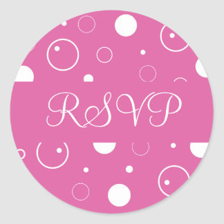 RSVP Bubbles Envelope Sticker Seal