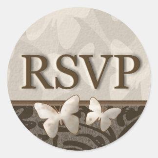RSVP Butterflies Classic Round Sticker
