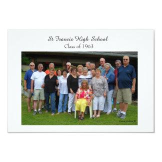 RSVP card for Class Reunion