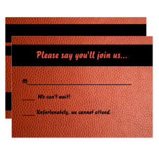 RSVP card I for Hoops Bar Mitzvah Collection