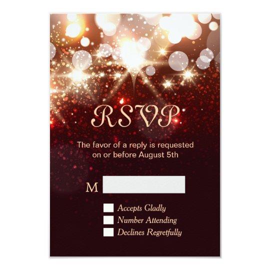 RSVP Card - Modern Gold Glitter Sparkles
