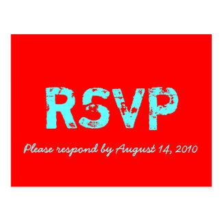 RSVP Card Retro Postcard