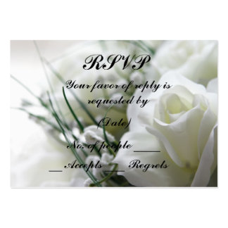RSVP Card Template Large Business Cards (Pack Of 100)