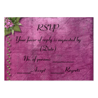 RSVP Card Template Large Business Card