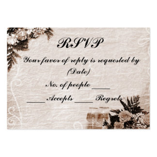 RSVP Card Template Pack Of Chubby Business Cards