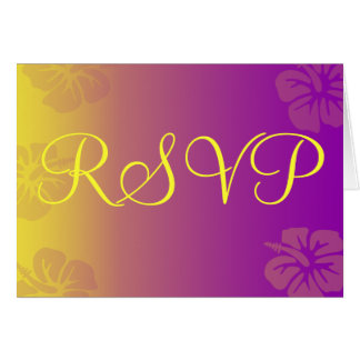 RSVP Card Tropical Theme Hibiscus Flower
