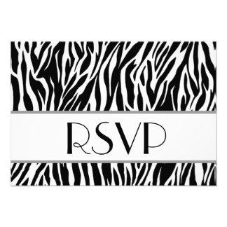 RSVP Card Zebra Striped Animal Print W05