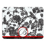 RSVP Cards-Black Roses Red Trim - faded pattern