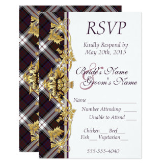 RSVP - Clan MacDonald Dress Tartan & Thistles Card