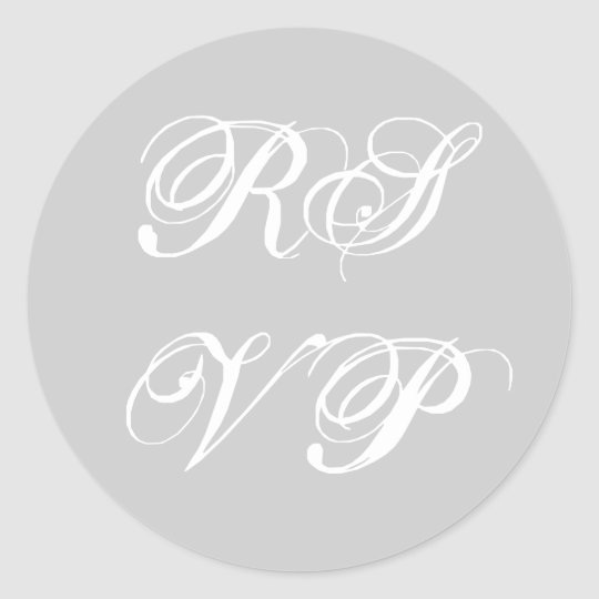 RSVP Custom Grey and White Sticker
