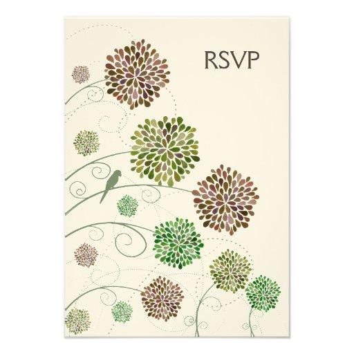 RSVP Dahlia Whimsy Garden Wedding Cards Custom Invitations