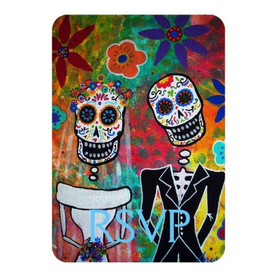 RSVP Dia de los Muertos Wedding Response Card