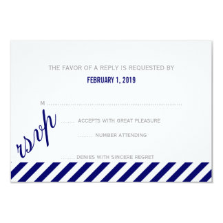 RSVP | Diagonally Card