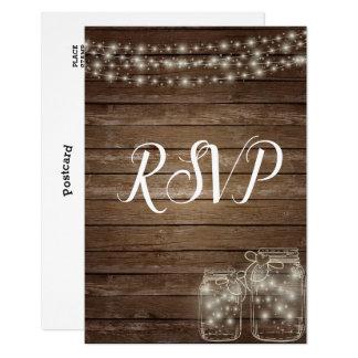 RSVP Elegant Rustic Mason Jar Lights Card