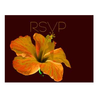 RSVP Fall Colors Wedding Postcard