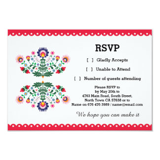 RSVP Fiesta Mexican Print Card Red Wedding Party