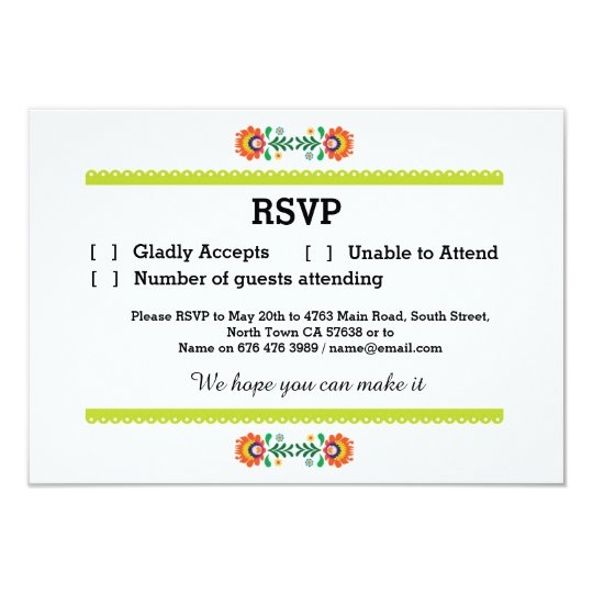 RSVP Fiesta Mexican Print Cards Lime Wedding Party