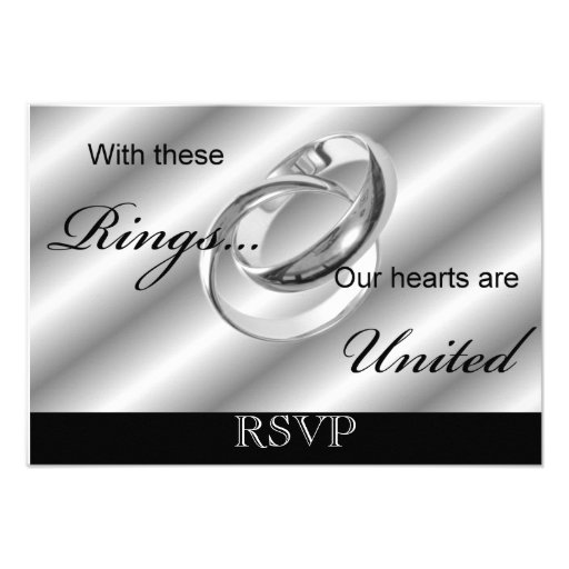 RSVP Gay Wedding invitation Announcement