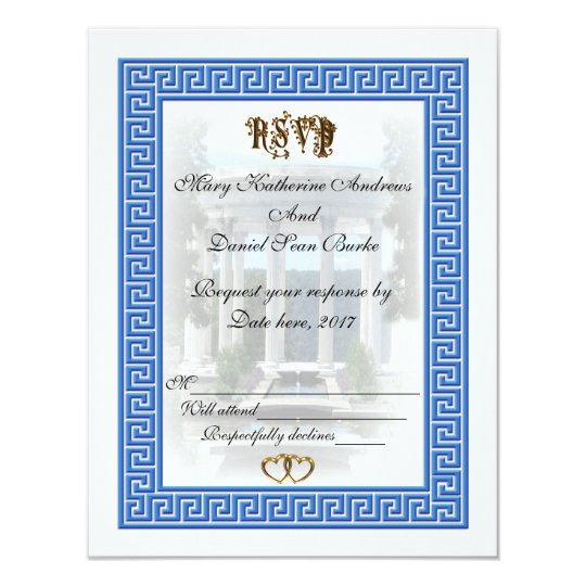 RSVP Greek Key design Card
