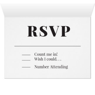RSVP Heart Design Card