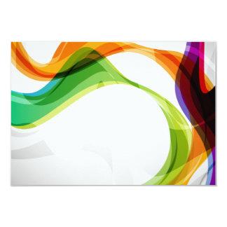 """RSVP Hearts Double Infinity & Rainbow Ribbons - 3B 3.5"""" X 5"""" Invitation Card"""