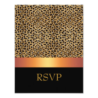 "RSVP Invitation Leopard Print Invite 4.25"" X 5.5"" Invitation Card"