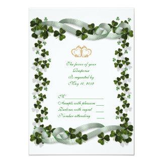 RSVP Irish Wedding response card