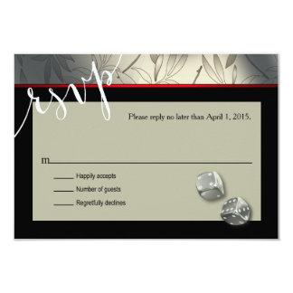 "RSVP Las Vegas Art Deco | silver black 3.5"" X 5"" Invitation Card"
