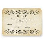 RSVP l'épousant vintage carde le Flourish élégant  Invitation Personnalisable