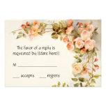 RSVP l'épousant vintage, fleurs roses antiques de  Invitations Personnalisables