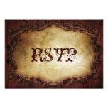 RSVP l'épousant vintage occidental élégant sophist Cartons D'invitation