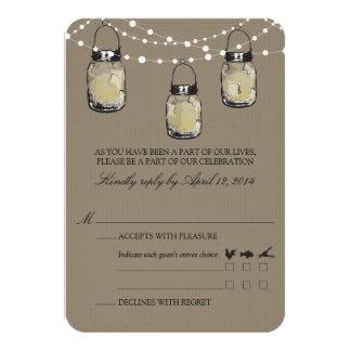 RSVP Mason Jar Wedding Card