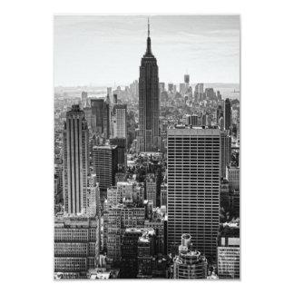 RSVP NY City Skyline Empire State Bldg, WTC BW Card