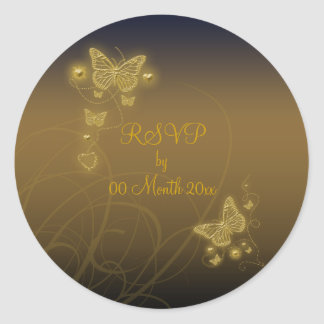 RSVP party Classic Round Sticker