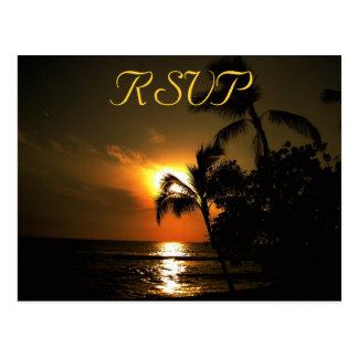 RSVP Recepion Response Beach Shoreline Postcard