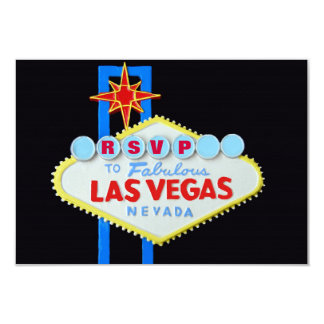 "RSVP Reception Guest Reply Las Vegas Wedding 3.5"" X 5"" Invitation Card"