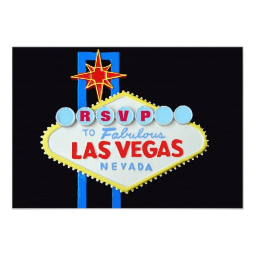 RSVP Reception Guest Reply Las Vegas Wedding Announcement