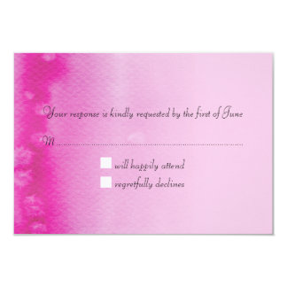 RSVP REPLY CARD ombre watercolor fuschia pink